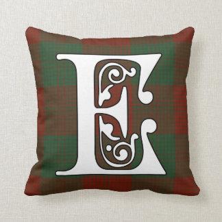 Erskine Clan Tartan Monogram Cushion