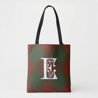 Erskine Clan Tartan Monogram Tote Bag