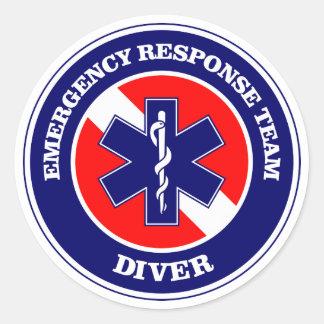 ERT Diver Classic Round Sticker