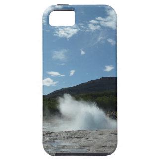 Erupting geyser in Iceland iPhone 5 Cases