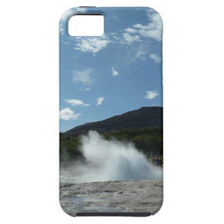 Erupting geyser in Iceland iPhone 5 Cover