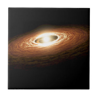 Erupting Star - So You Think You're Hot? Small Square Tile