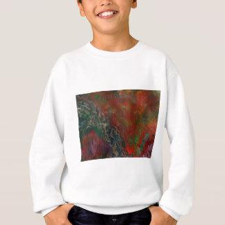 Erupting volcanic landscape sweatshirt