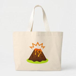 Eruption lava Kids room design Large Tote Bag