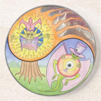 """Eruption"" Mandala Drink Coaster"