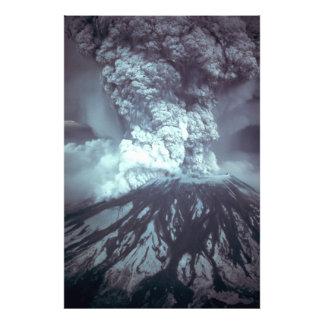 Eruption of Mount Saint Helens Stratovolcano 1980 Art Photo