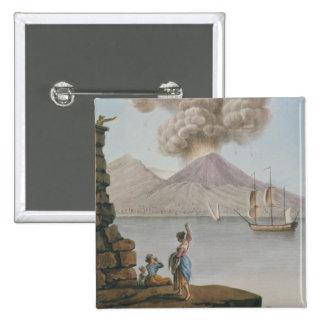 Eruption of Vesuvius, Monday 9th August 1779, plat Button