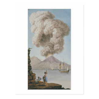 Eruption of Vesuvius, Monday 9th August 1779, plat Postcard