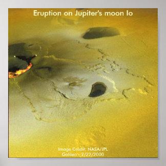 Eruption on Jupiter's moon Io Poster
