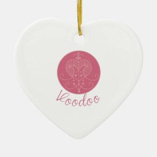 Erzulie Veve Voodoo Ceramic Heart Ornament