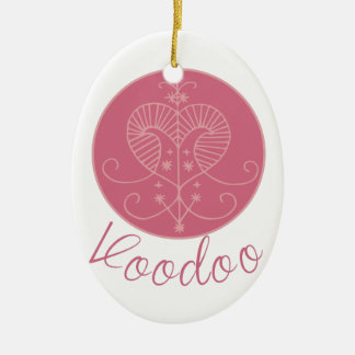 Erzulie Veve Voodoo Ceramic Oval Ornament