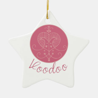 Erzulie Veve Voodoo Double-Sided Star Ceramic Christmas Ornament