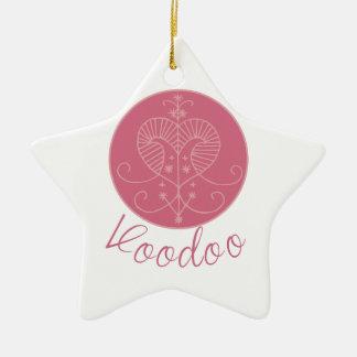 Erzulie Veve Voodoo Ceramic Star Ornament