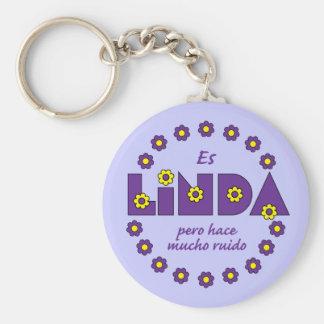 Es Linda, pero Basic Round Button Key Ring