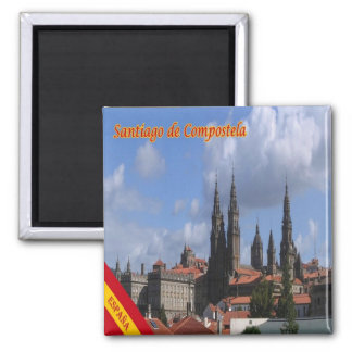 ES - Spain - Santiago de Compostela Panorama Magnet