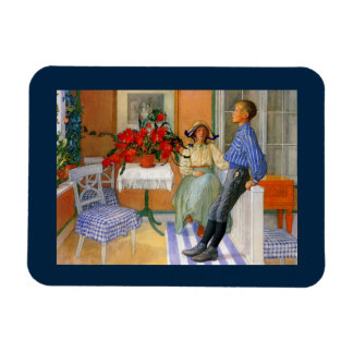 Esbjorn Brother and Sister in Sunroom Rectangular Photo Magnet