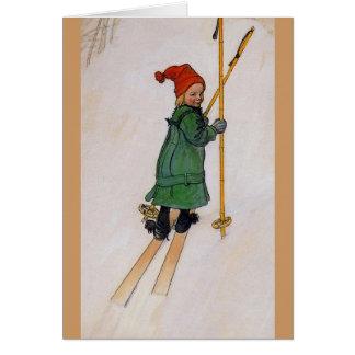 Esbjorn on Skis 1905 Card