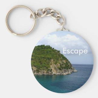 Escape Basic Round Button Key Ring