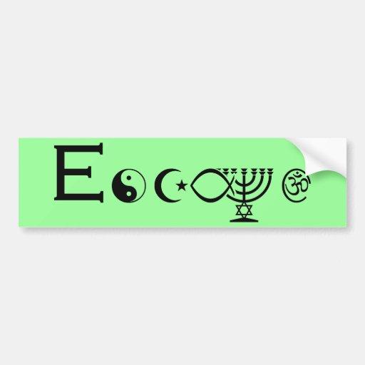Escape - Black Bumper Sticker