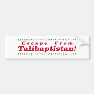 Escape From Talibaptistan red Bumper Sticker