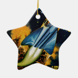 Escape from the Exploding Planet Ceramic Ornament
