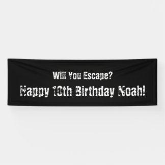 """Escape Room"" Party Banner"