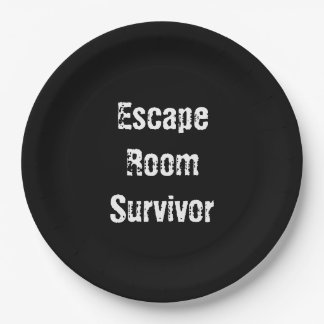 """""""Escape Room"""" Party Paper Plates 9 Inch Paper Plate"""