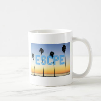 Escape to palm trees design coffee mug