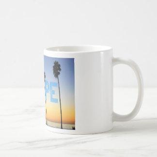 Escape to palm trees design coffee mug