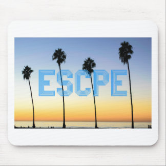 Escape to palm trees design mouse pad