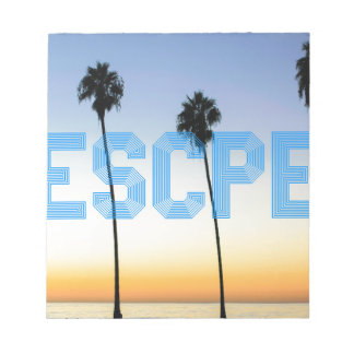 Escape to palm trees design notepad