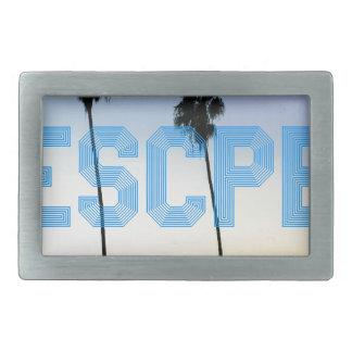 Escape to palm trees design rectangular belt buckle