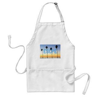 Escape to palm trees design standard apron