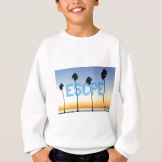 Escape to palm trees design sweatshirt