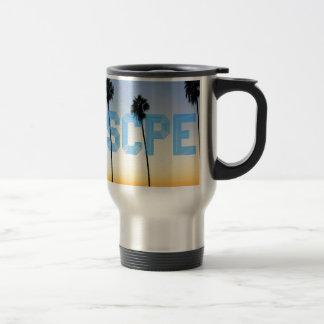 Escape to palm trees design travel mug