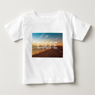 Escape to the beach design baby T-Shirt