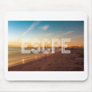 Escape to the beach design mouse pad