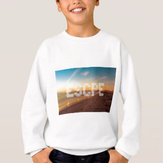 Escape to the beach design sweatshirt