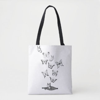 Escaping butterflies tote bag