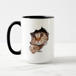 Escaping Kitten Coffee Mug