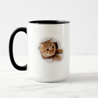 Escaping Kitten Coffee Mug 2