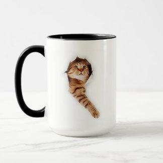 Escaping Kitten Coffee Mug 3
