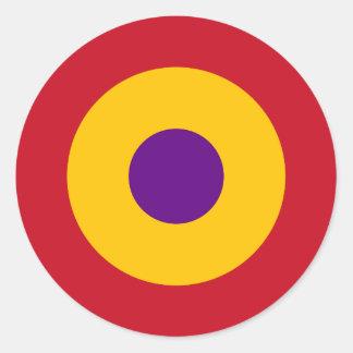 Escarapela de la República Española Classic Round Sticker