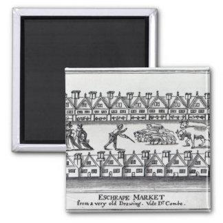 Escheape Market Refrigerator Magnet