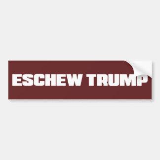 ESCHEW TRUMP BUMPER STICKER