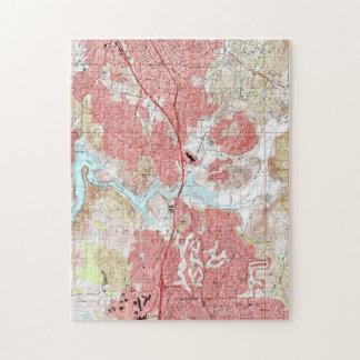 Escondido California Map (1996) Jigsaw Puzzle