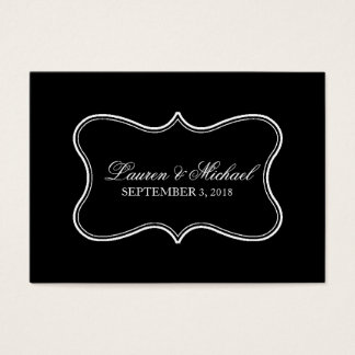 Escort Card | Featured Black