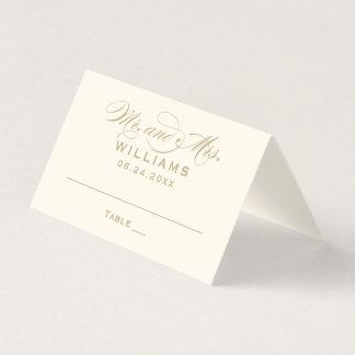 Escort Place Card | Calligraphy Script Gold