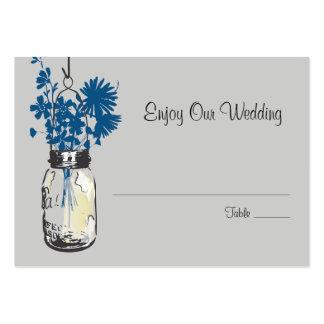 Escort Seating Card Wild Flowers & Mason Jar Business Card Templates