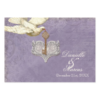 Escort Table Seating Card, Key to my Heart, Doves Business Cards